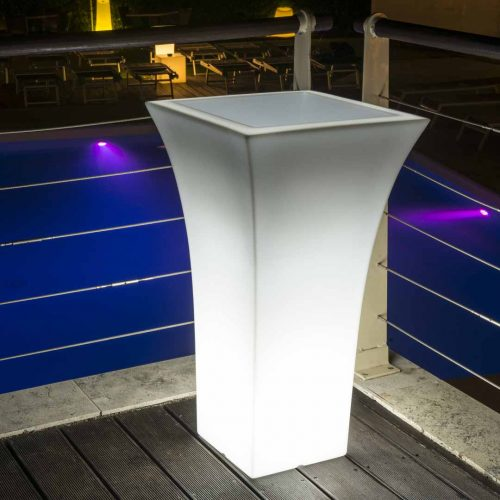 Lighted Patio Pot