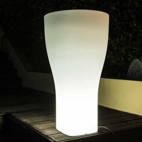 'Domus' Lighted Cylinder Planter