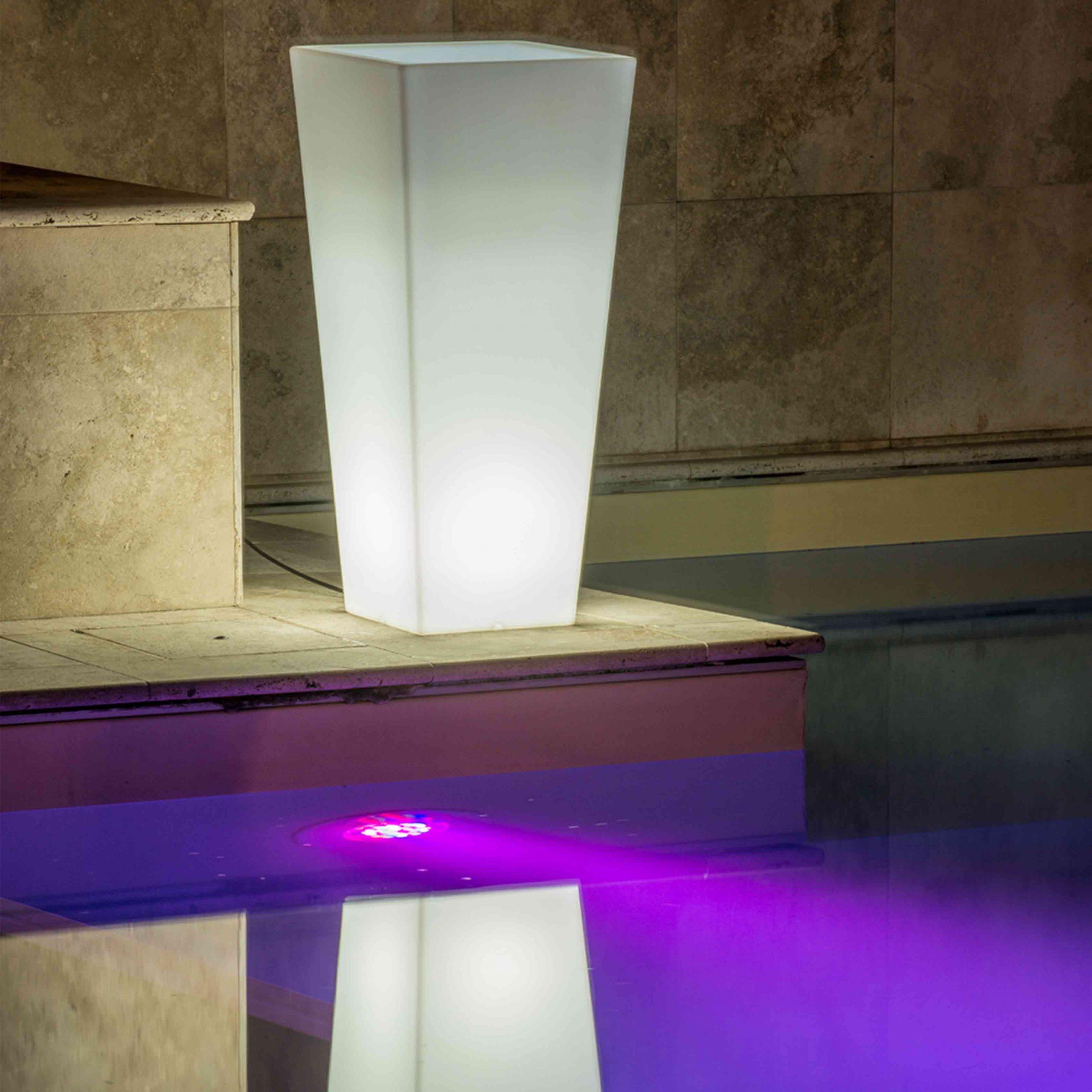 'Hydrus' Luminous Square Pot (Hydrus Luce)