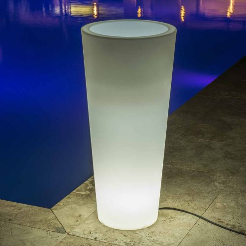 'Hydra' Lighted Cylinder Planter