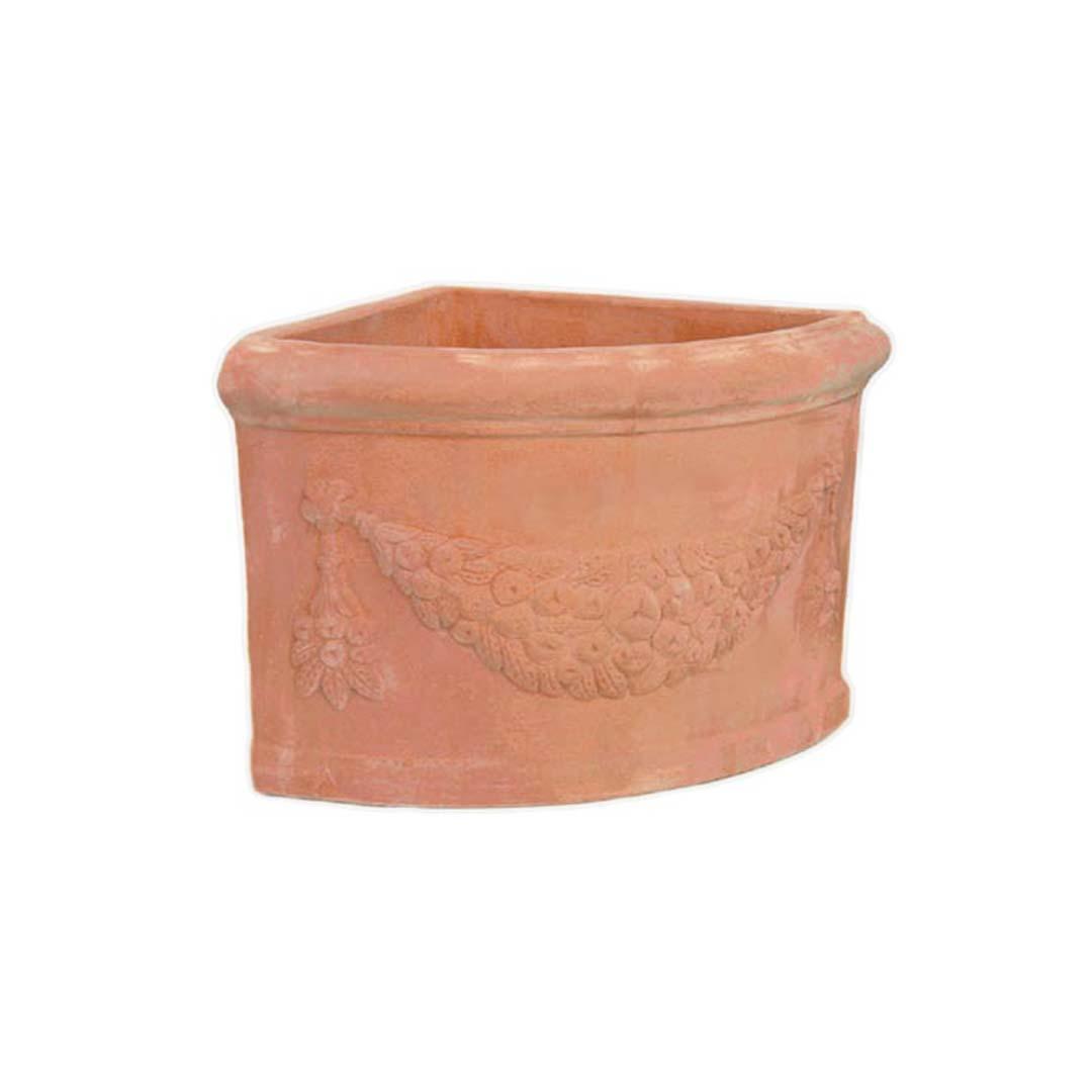 Garlanded Corner Pot