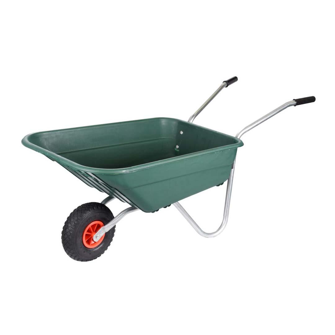 Walsall 90L Green Polypropylene Rosemoor Garden Wheelbarrow