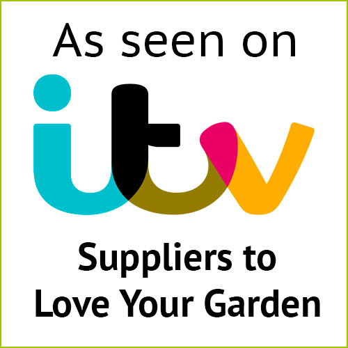 As seen on ITV. Suppliers to Love Your Garden.